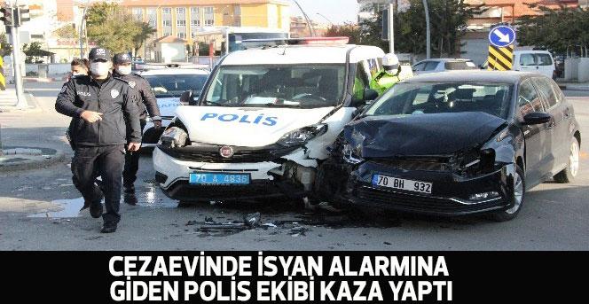 Cezaevinde isyan alarmına giden polis ekibi kaza yaptı