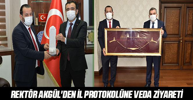 Rektör Akgül'den İl Protokolüne Veda Ziyareti