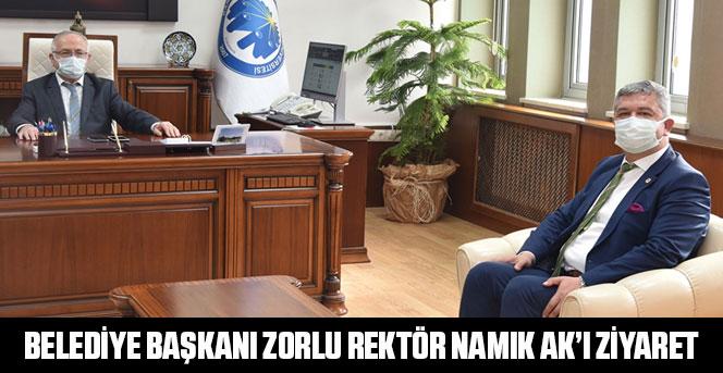 Belediye Başkanı Zorlu Rektör Namık Ak'ı Ziyaret
