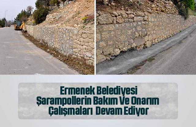 Ermenek'te  Şarampollerin Bakım Ve Onarım  Çalışmaları  Devam Ediyor