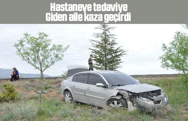 Hastaneye tedaviye giderken kaza geçirdiler
