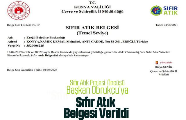 """Ereğli Belediyesi """"Sıfır Atık Projesi"""" öncüsü"""