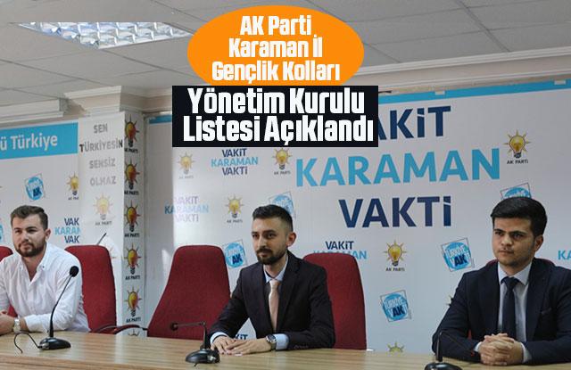 AK Parti İl Gençlik Kolları Yönetim Kurulu Listesi Açıklandı