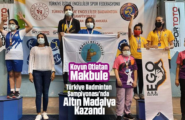 Koyun Otlatırken Badmintonda Türkiye Şampiyonluğuna
