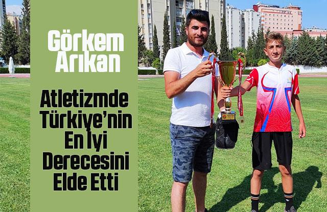 """Karaman'ın Atletizmde Gelecek Vadeden İsmi: """"Görkem Arıkan"""""""