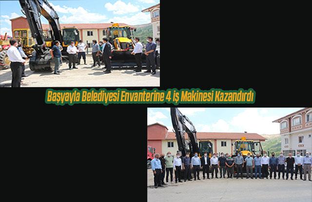 Başyayla Belediyesi envanterine 4 iş makinesi kazandırdı