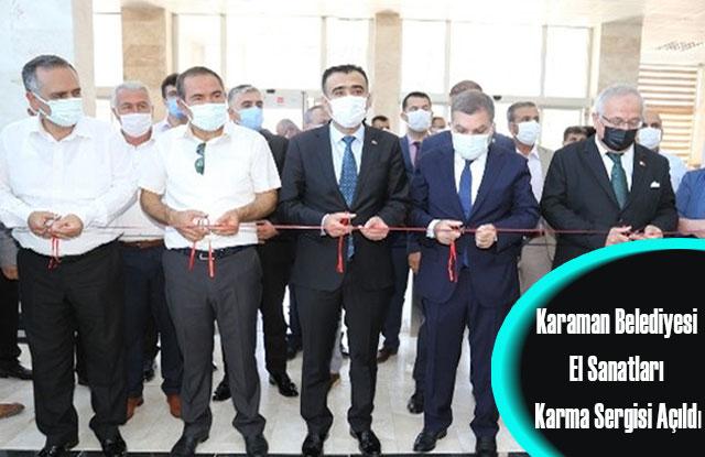 Karaman Belediyesi El Sanatları Karma Sergisi Açıldı