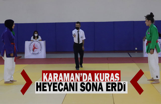 Karaman'da Kuraş Heyecanı Sona Erdi