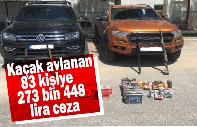 Kaçak avlanan 83 Kişiye 273 Bin 448 Lira Ceza
