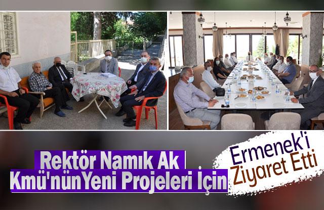 Rektör Namık Ak, Kmü'nün Yeni Projeleri İçin Ermenek'i Ziyaret Etti